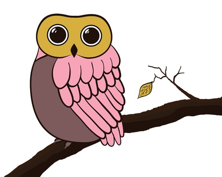 Owl card Vector
