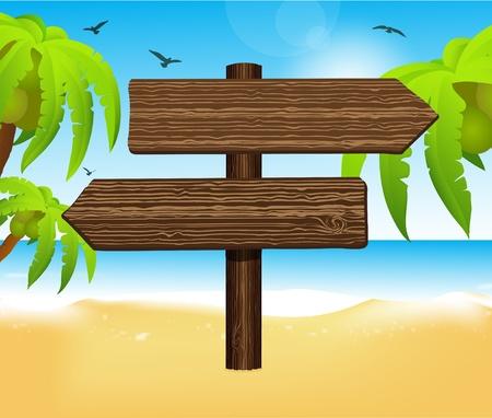 siervo: flecha de madera señal en blanco
