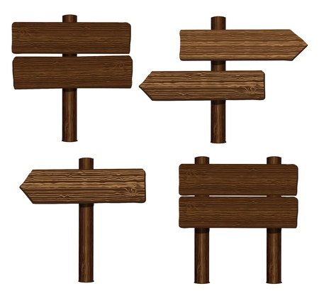 Wood signs Vector
