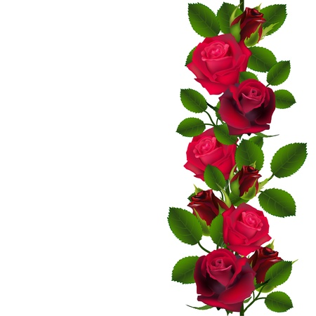 rose bouquet: Seamless red roses pattern