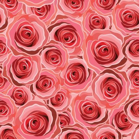 rose pattern red Stock Illustratie