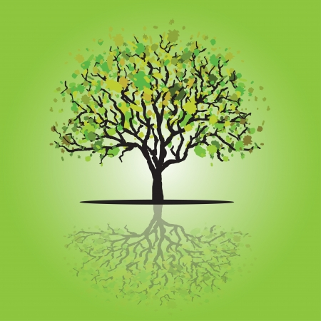 Tree card Vector