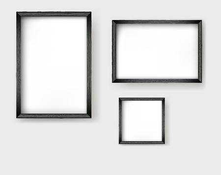 old picture frame: Vector frames Illustration