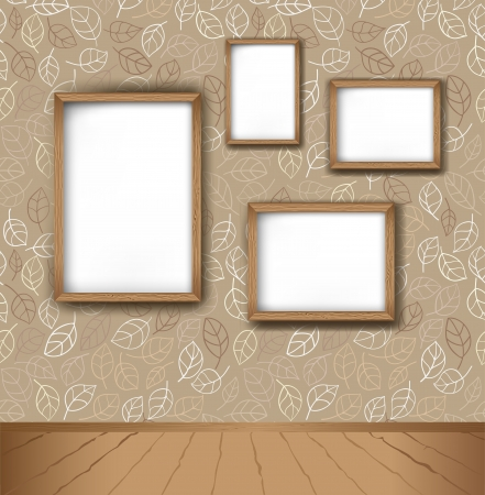picture frame on wall: Frame in interior Illustration
