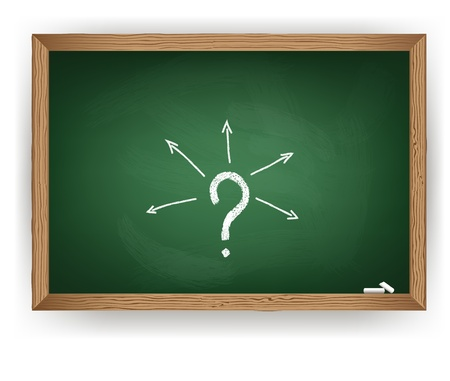 Blackboard and question mark Stock Vector - 20274820