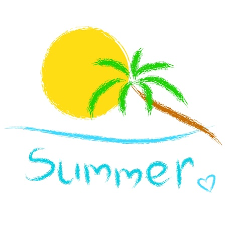 in the summer: Summer background