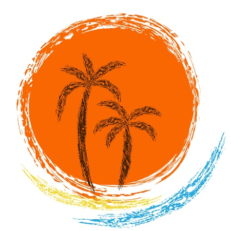 Palms and sun  Stock Vector - 20274835