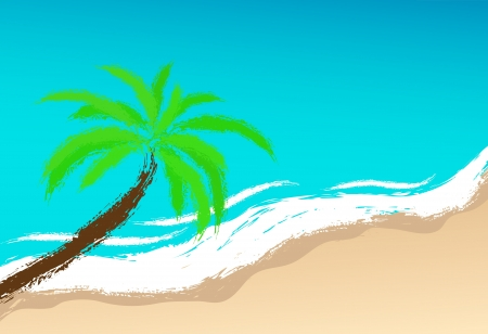 Palm on coast. Vector image for design Stock Vector - 20830315