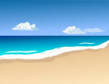 Vector illustrashion, shoreline and waves Stock Vector - 20830412