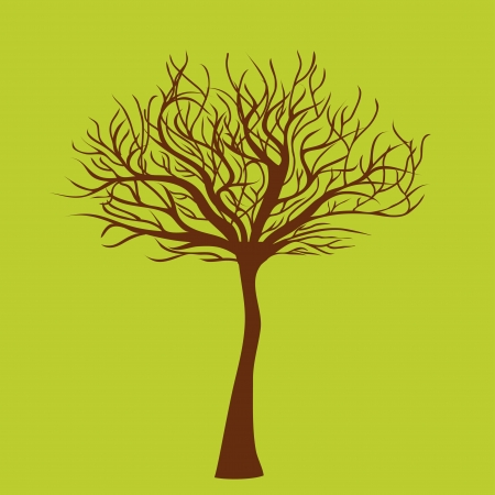 Tree on green Vector