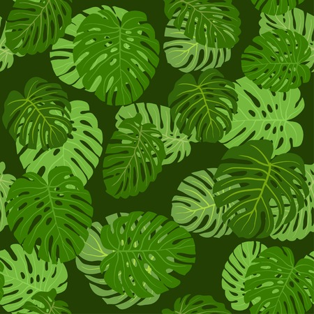 Pattern leafs green Vector