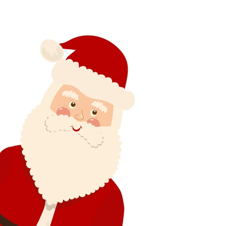 father christmas: Christmas card, vector illustration