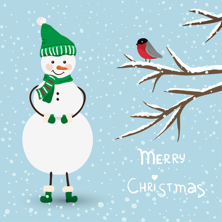 Cute christmas card in vector Stock Vector - 23548346