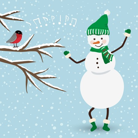 Cute christmas card in vector Stock Vector - 23548357