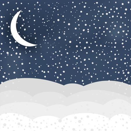 winter scene: Winter scene in vector