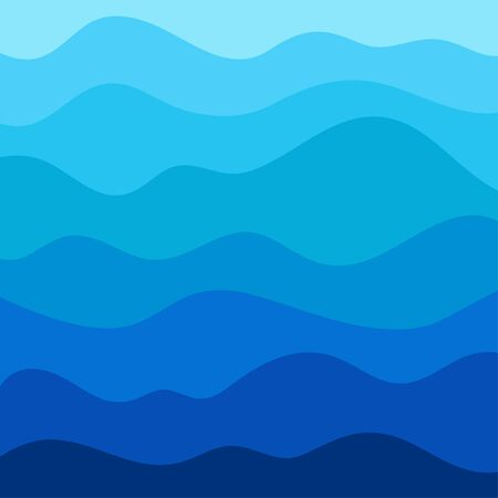 Stylized wave background in vector Vector