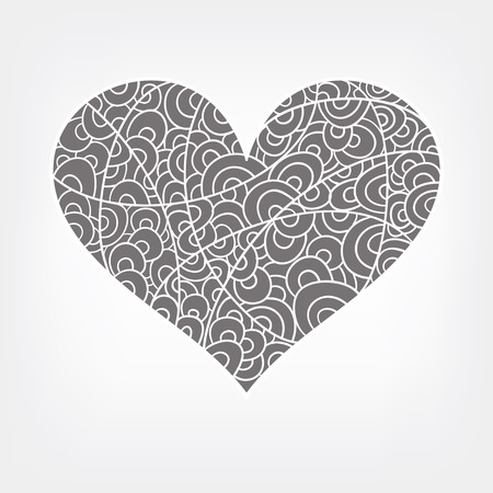 isilated: Vector abstract heart in white Illustration