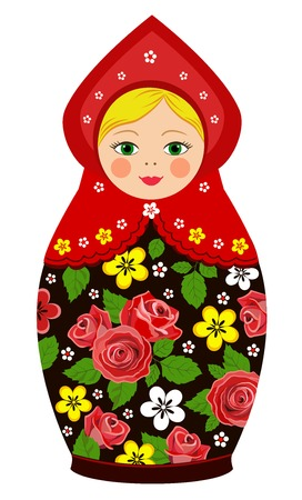 matroushka: Russian tradition matryoshka dolls in vector