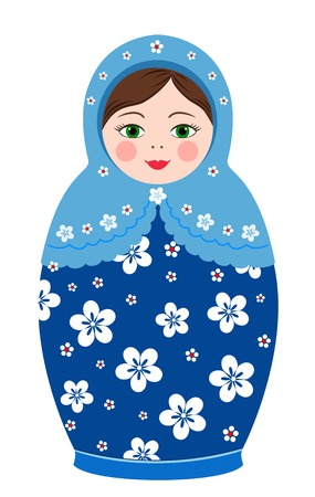 Russian tradition matryoshka dolls in vector