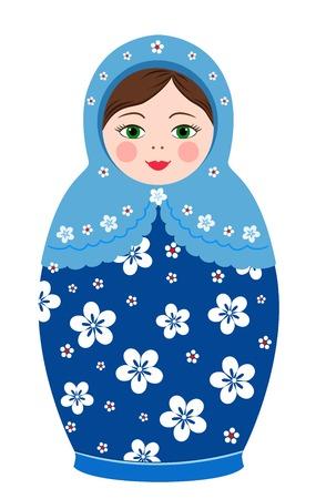 Russische traditie matryoshkapoppen in vector
