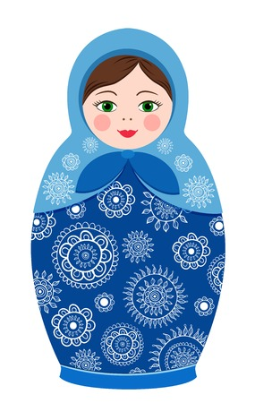 Russian tradition matryoshka dolls in vector Vector