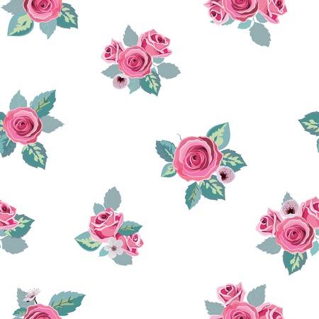 花のパターン ベクトルのシームレスです