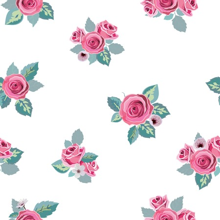 flower pattern seamless in vector Vector