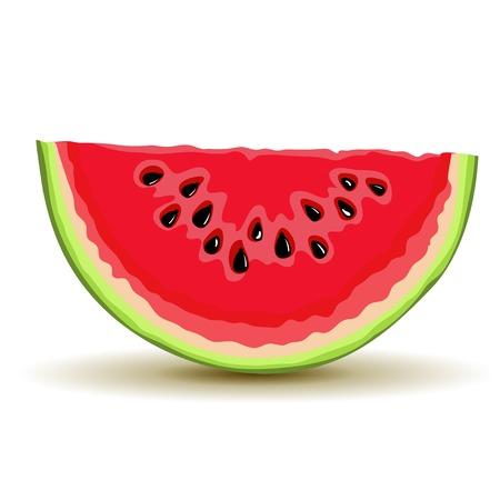 Slice of watermellon in vector Vector
