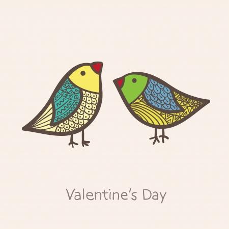 twitter: Two birds in vector