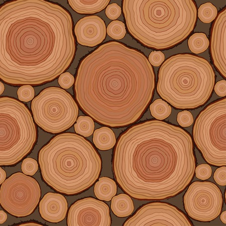 Cut wood pattern seamless in vector Illustration