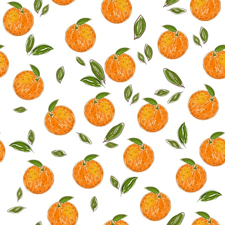 oranges: Orange fruit pattern