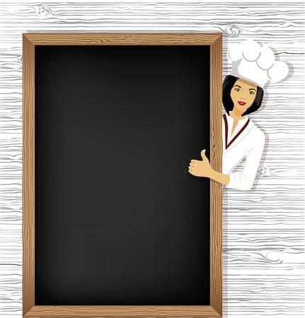 Cook woman Vector