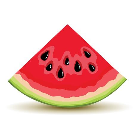 Verse segment van watermeloen