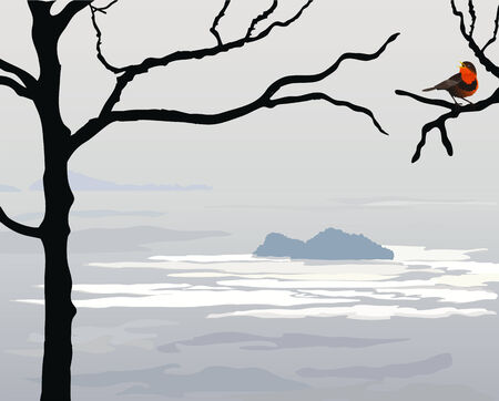 atmospheric: Sea gray landscape