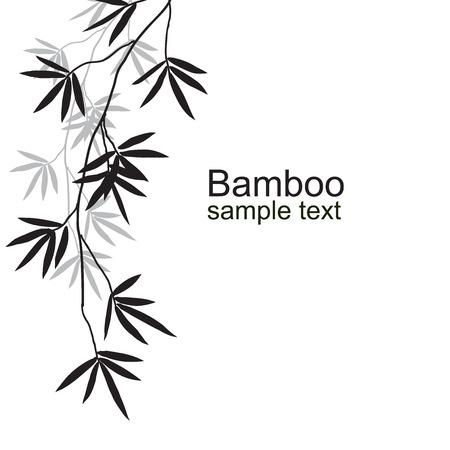 bamboo border: Bamboo branches