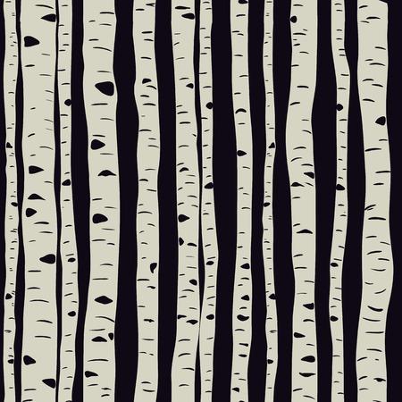 Birches in vector