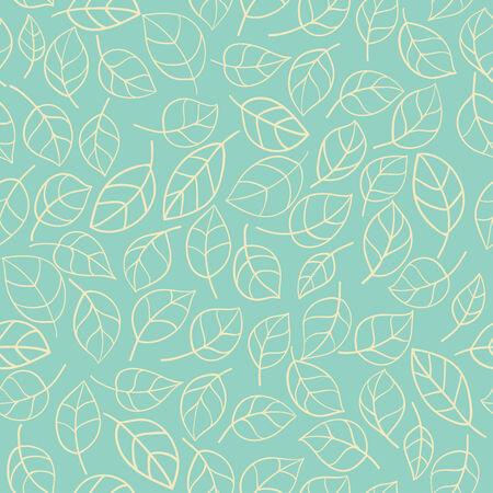fur tree ornament: Seamless stylized leafs pattern