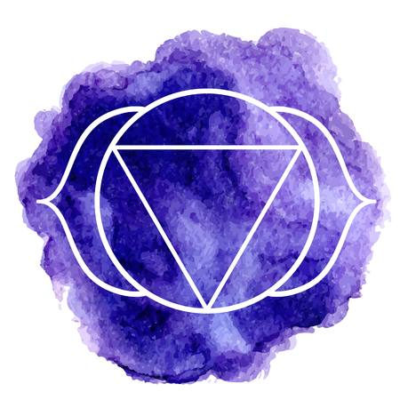 third eye: Ajna chakra Illustration