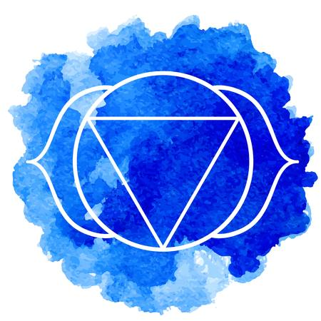 holistic health: Ajna chakra Illustration