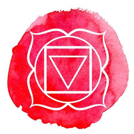 Muladhara chakra 向量圖像