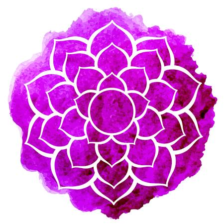 sacred lotus: Sahasrara chakra Illustration