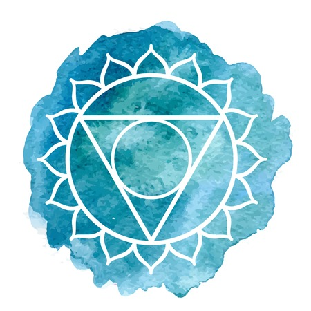 sacred lotus: Vishuddha chakra Illustration