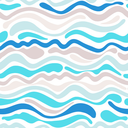 Seamless pattern in vector. Wave sea wallpaper