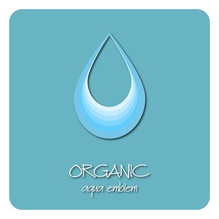 emplate: Drop of clean water decorative element . Aqua design template. Blue water concept.