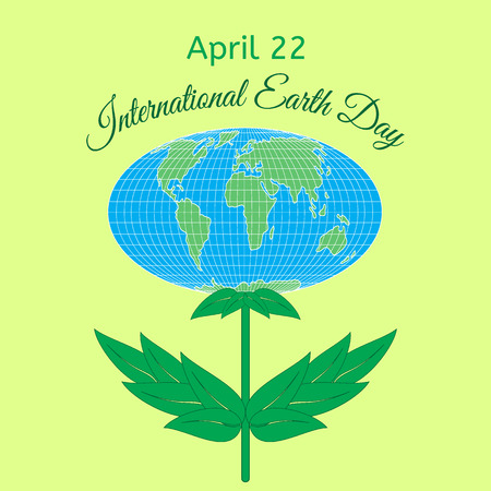 International Mother Earth Day Theme Globe In The Form Of A