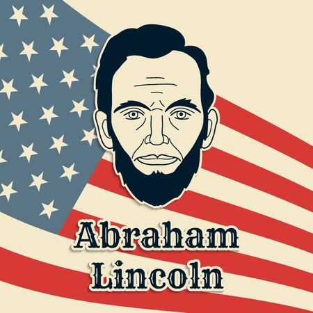 President Abraham Lincoln vector poster, banner or postcard.