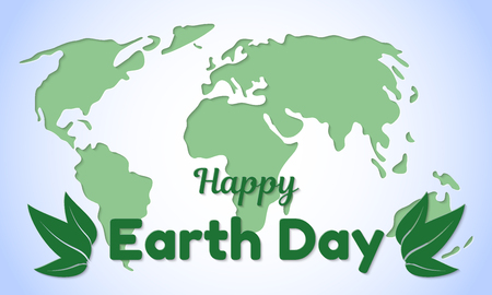 Earth Day theme greeting card or banner.