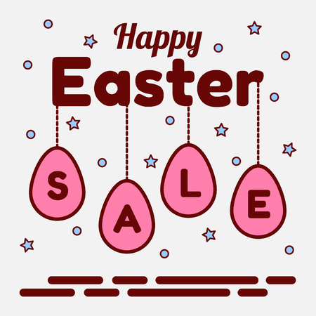 Happy Easter sale theme vector illustration 矢量图像