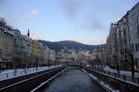 karlovy: Tepla river in Karlovy Vary