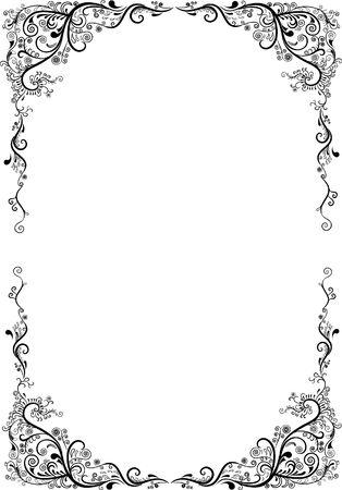 siluet: Openwork framework.Vector illustration. Pattern
